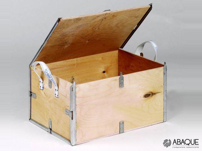 fabrication de caisse en bois - Groupe Abaque - Condi Atlantique - caisse avec renfort de mousse polyéthylène PE